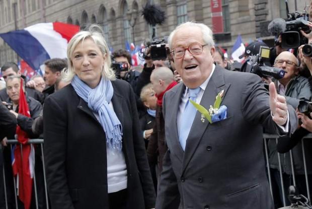 Jean Marie y Marine Le Pen, antes de la ruptura (GTRES)