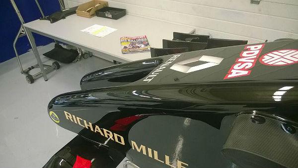 La única imagen facilitada por Lotus de su filming day en Jerez.