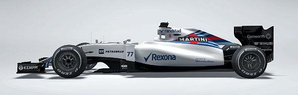 Recreación del nuevo Williams FW37. (foto: Efe)