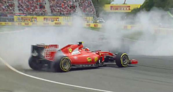 Trompo de Raikkonen en el GP de Canadá.