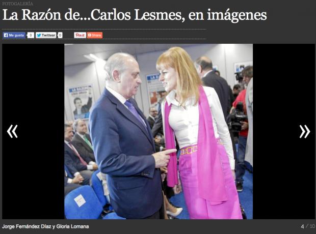 Captura de pantalla de la Galería de fotos en la web de La Razón Digital.
