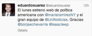 Tuit de Eduardo Suárez