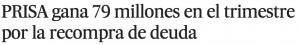 Prisa gana. El País.