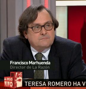 El director de La Razón en Al rojo vivo, de La Sexta, el pasado lunes.