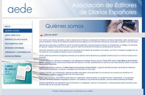 Página web de la AEDE.