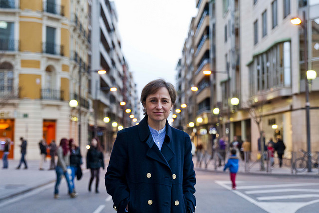 Carmen Aristegui asistió al Congreso de Periodismo Digital de Huesca en 2014. Foto: Álvaro Calvo/Congreso Periodismo Digital