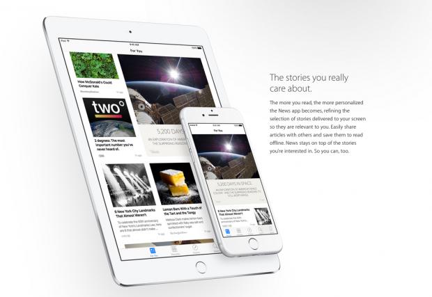 News, la app de noticias de Apple, estará disponible este otoño con iOS 9 para el iPhone y el iPad.