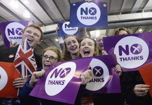 """Partidarios del """"no"""" en Escocia"""