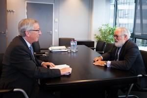 Encuentro entre Miguel Arias Cañete y Jean-Claude Juncker / Comisión Europea