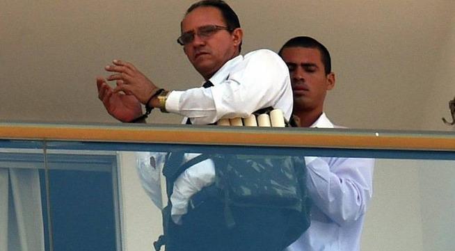 Un hombre toma a un rehén en Brasilia. AFP.