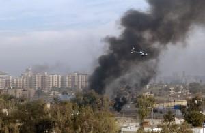 Un helicóptero de Blackwater en Bagdad en 2004.