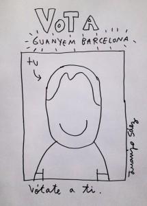 Cartel de Guanyem Barcelona