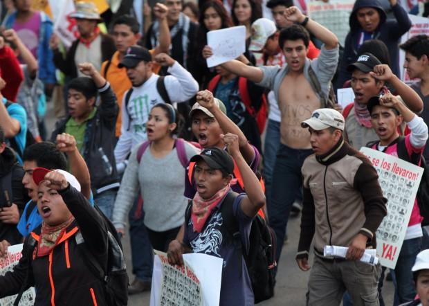 Protestas en México. CRÉDITO: MARCO UGARTE/GTRES