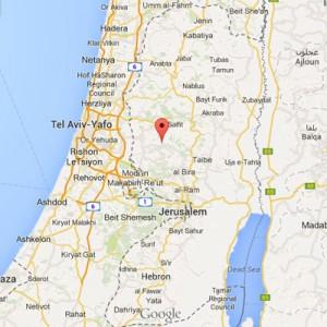 Mapa de Israel y Palestina / Google Maps