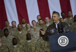 Obama visita en Noviembre a las tropas desplegadas en Afganistán. EFE/Archivo