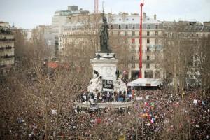 Millones de personas se manifestaron ayer en París contra el yihadismo / EFE