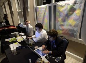 VOTACIONES EN ESTADOS UNIDOSMiembros del Partido Demócrata en el estado de Georgia monitorean resultados en Atlanta(EE.UU.) (EFE/ERIK S. LESSER)