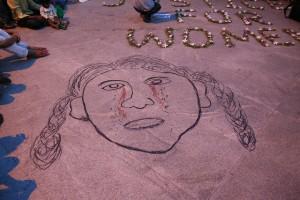 Protesta contra violación Yjoti. 2012. Flickr. Ramesh Lalwani