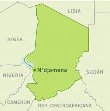 mapa de la región de Guera