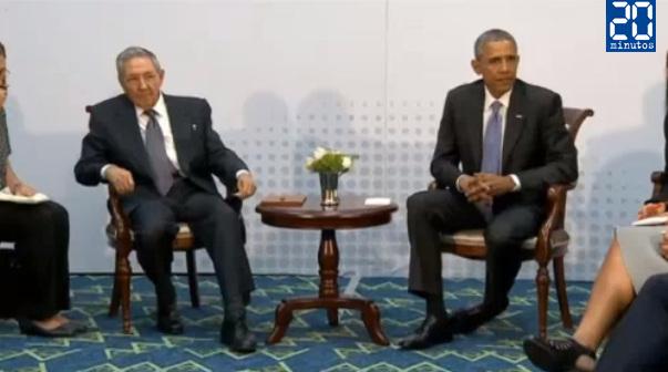 20 minutos foto obama castro