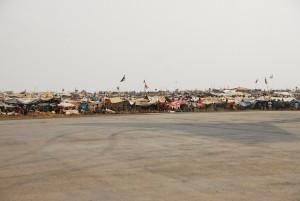 Campo de refugiados en Bangui, República Centrafricana