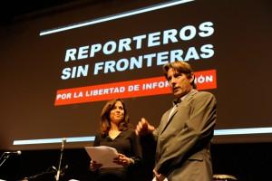 Reporteros Sin Fronteras celebró ayer un evento en el Día Mundial de la Libertad de Prensa / RSF