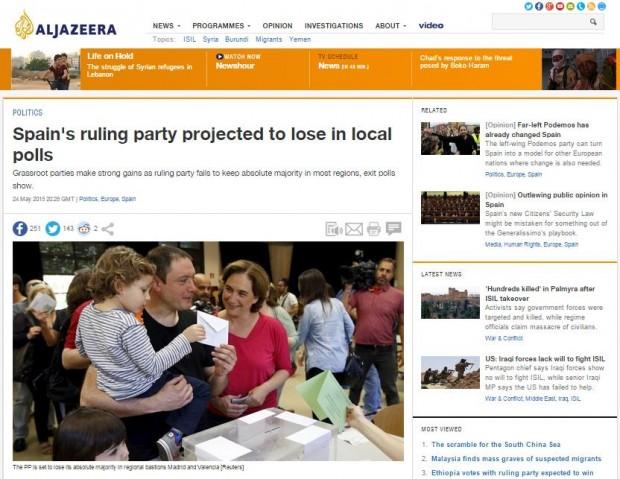 La noticia en Al Jazeera