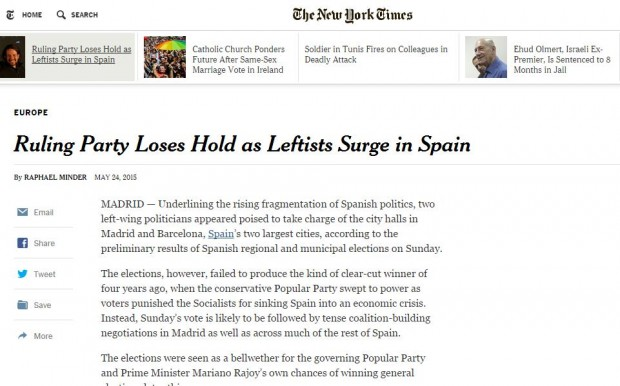 La noticia en The New York Times