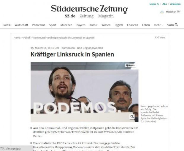 La noticia en el Süddeutsche Zeitung