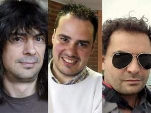 José Manuel López, Antonio Pampliega y Ángel Sastre / Agencias y Twitter.