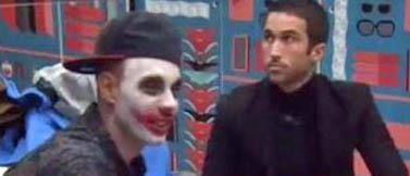 Omar y Luis, haciendo el ridículo.