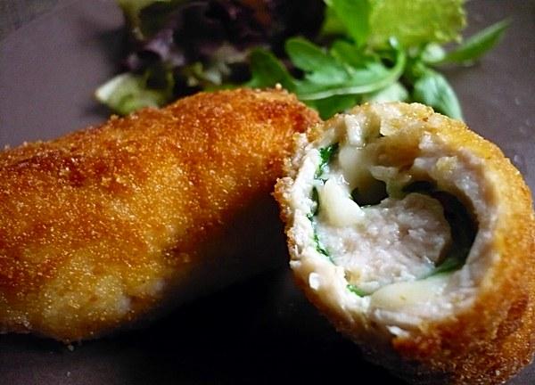 Rollitos de pechuga de pavo queso y r cula la gulateca for Como cocinar pechuga de pavo
