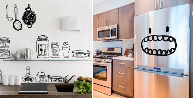 Paredes de vinilo para cocina perfect vinilos decorativos para pared cdm vinilos decorativos - Pegatinas para cocinas ...