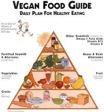 Pirámide alimenticia vegana