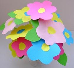 manualidades-ramo-flores-dia de la madre