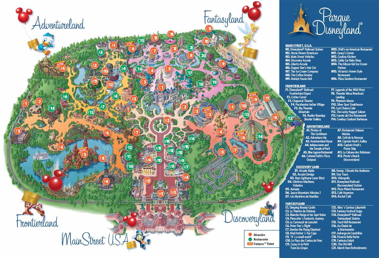 Mapa De Disneyland Paris Para Imprimir.Eurodisney Mapa Detraiteurvannederland