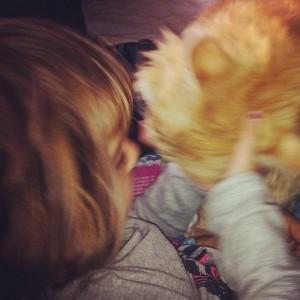 Beso de gato.