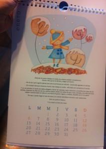 El mes de enero del calendario de Cuento a la vista.