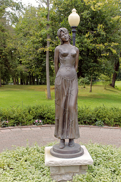 """Every Woman Memorial, Women's Park, Warren, OH. """"I am no bird; and no net ensnares me: I am a free human being with an independent will."""" ― Charlotte Brontë, Jane Eyre"""" (JACK PIERCE)"""