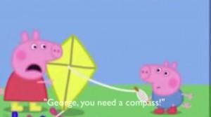 Una captura de la serie 'Peppa pig' subtitulada.
