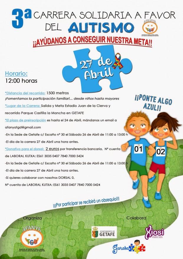 Cartel 3ª carrera solidaria para Getafe
