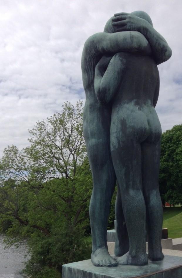 Una de las esculturas del parque Vigeland en Oslo (M.R.)