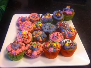 Los muffins que hicieron y decoraron los niños.
