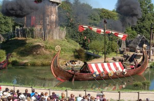 Los vikingos en acción.