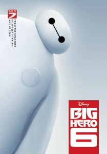 El robot de 'Big Hero 6' parece el hermano mayor y gordo de la Eve de 'Wall-e'.
