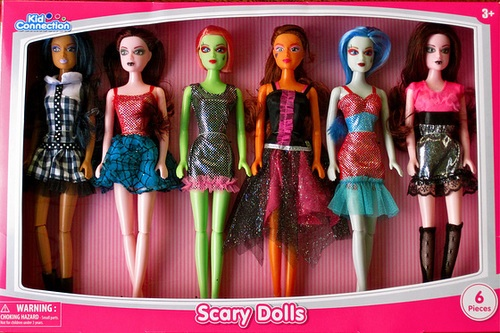 Unas muñecas inspiradas en las Monster High. (ipernity)
