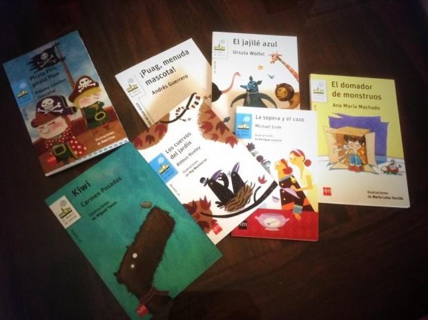 Deseando abrir con Julia los nuevos #libros de @elbarcodevapor ¡mirad qué belleza!