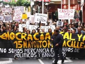 """Manifestación de """"indignados"""" en Madrid"""