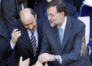 Rubalcaba y Rajoy, tan amigos...