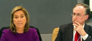 Ana Mato en Nueva York con el representante de España en la ONU.